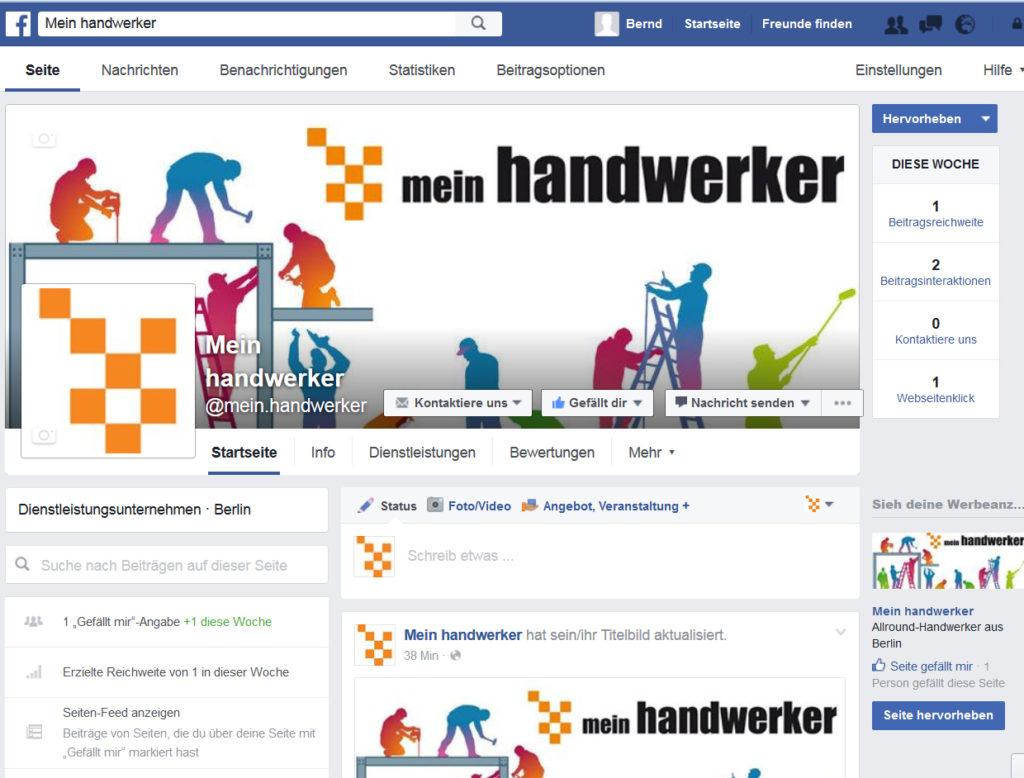 Facebook und mein handwerker