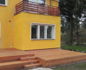 Kastendoppelfenster, Erker und Terrasse